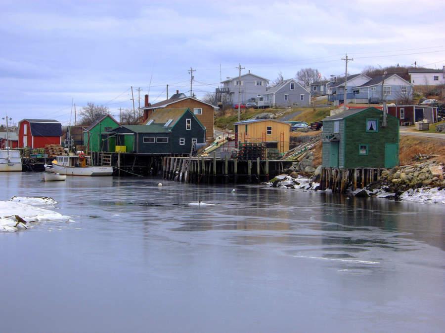 Casas sobre el mar en Halifax