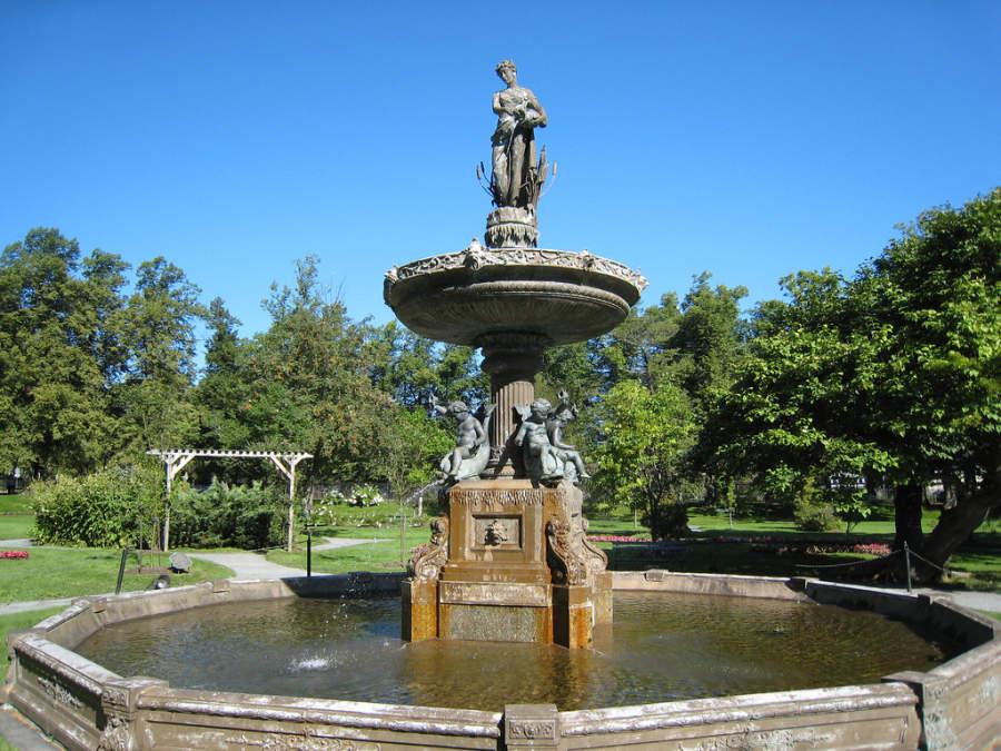 Fuente en Historic Public Gardens Halifax
