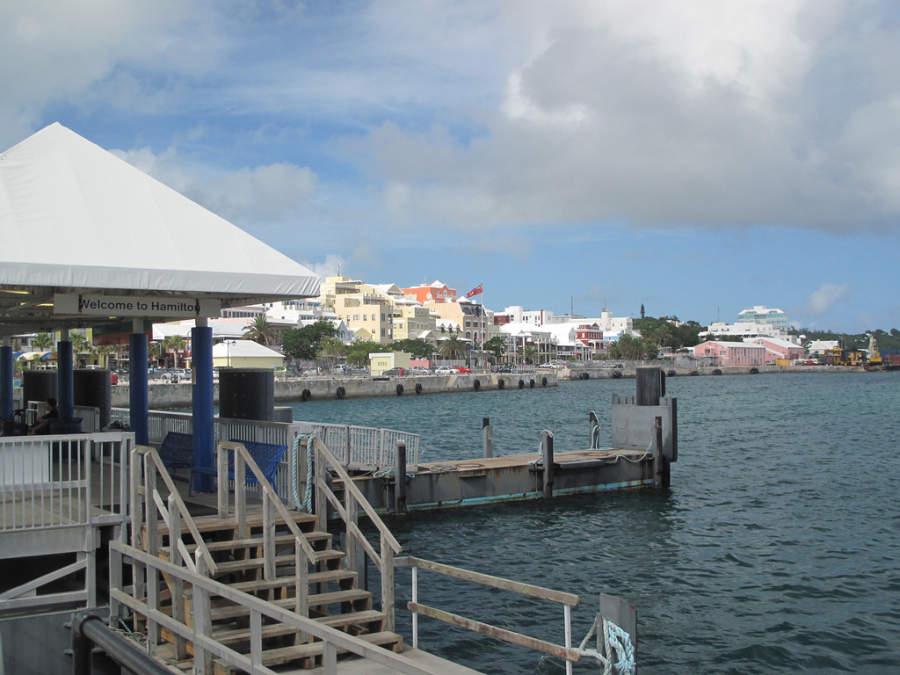 Puerto de Hamilton en las Bermudas, Territorio Británico de Ultramar