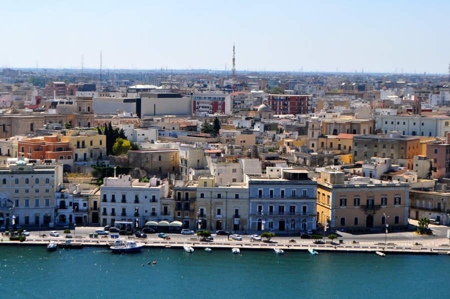 Vista área del centro de Brindisi