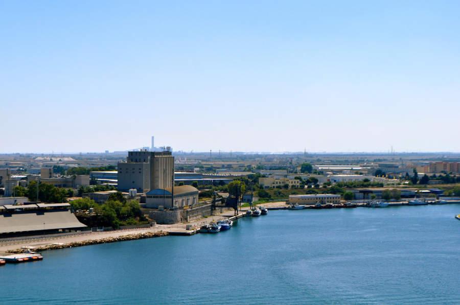 Zona industrial de Brindisi