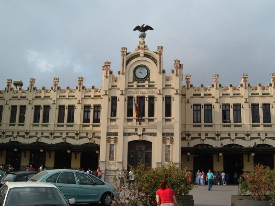 La Estación del Norte, principal estación de ferrocarril de la ciudad de Valencia
