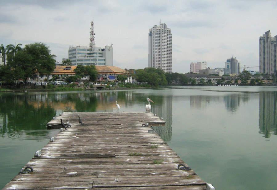 Vista de la parte moderna de la ciudad de Colombo