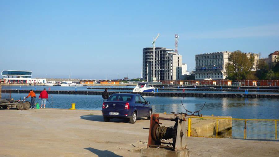 Muelle del puerto de Constanza
