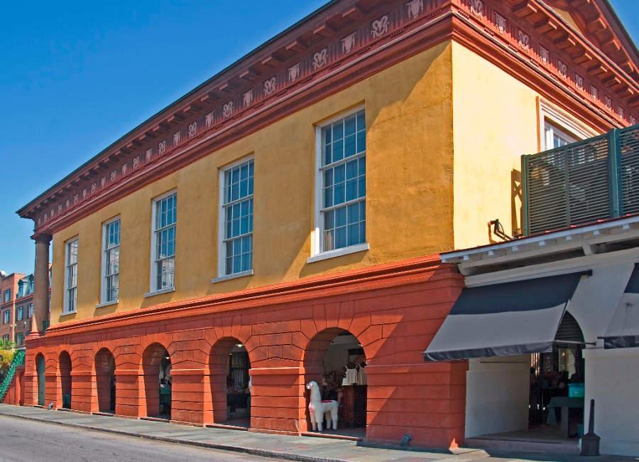 Vieja Casa de Comercio en Charleston, el tercer edificio colonial más importante del país