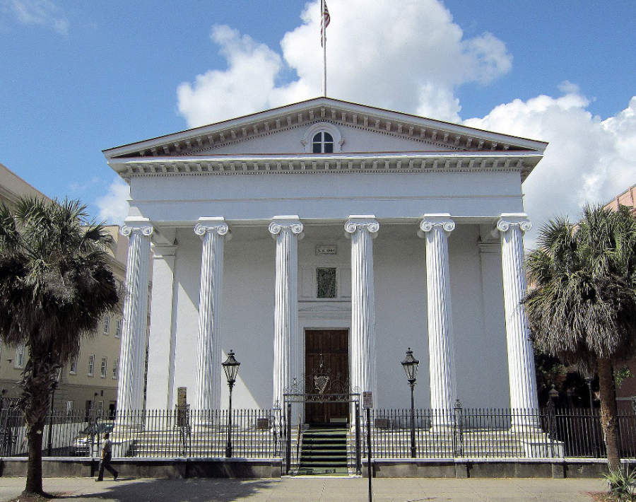 Edificio Hibernian Hall en Charleston, Carolina del Sur