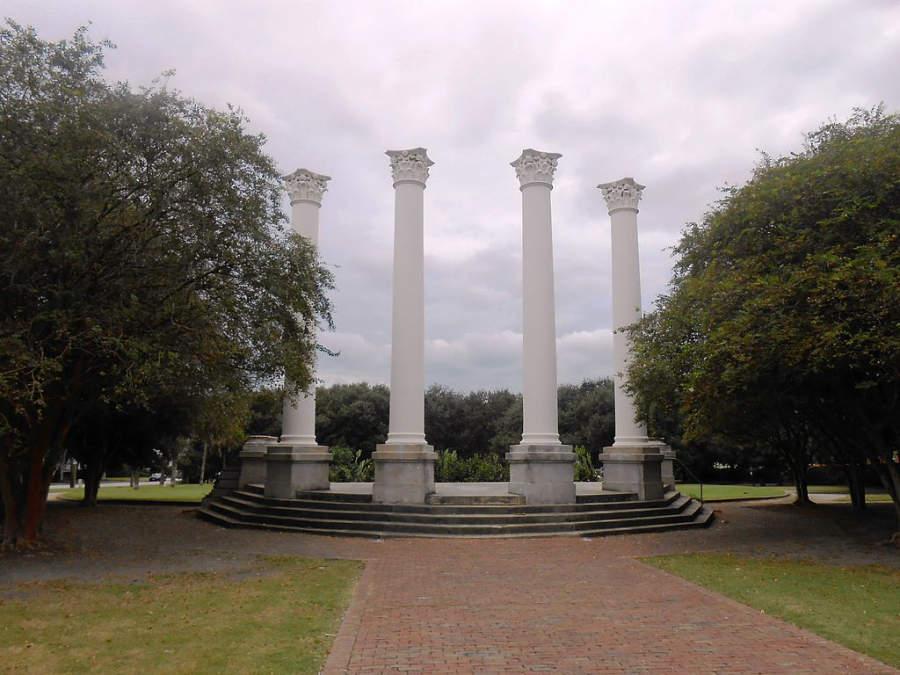 Parque Cannon en la ciudad de Charleston