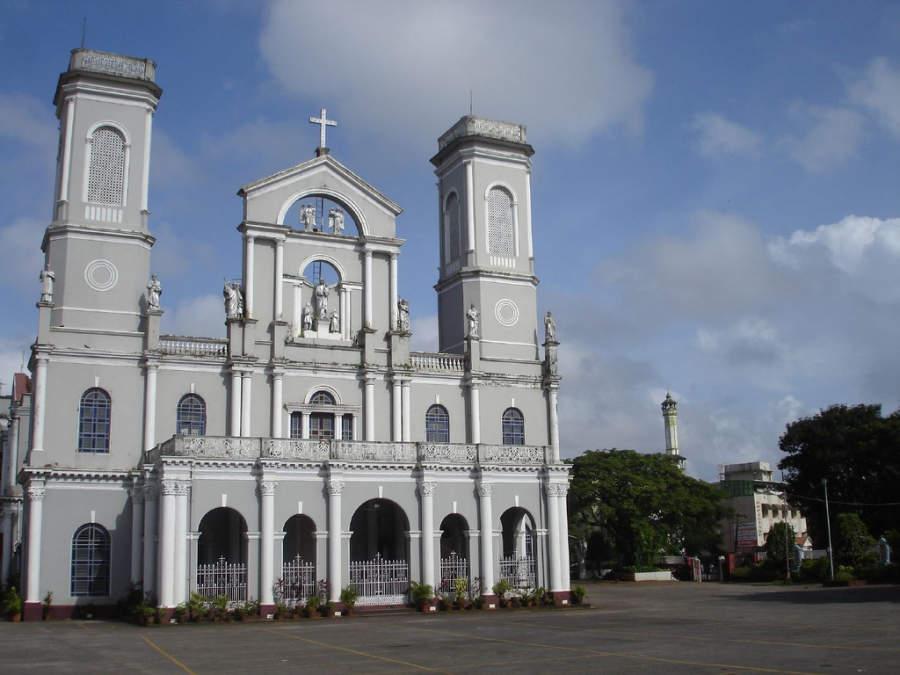 Parte de la población de Mangalore es cristiana