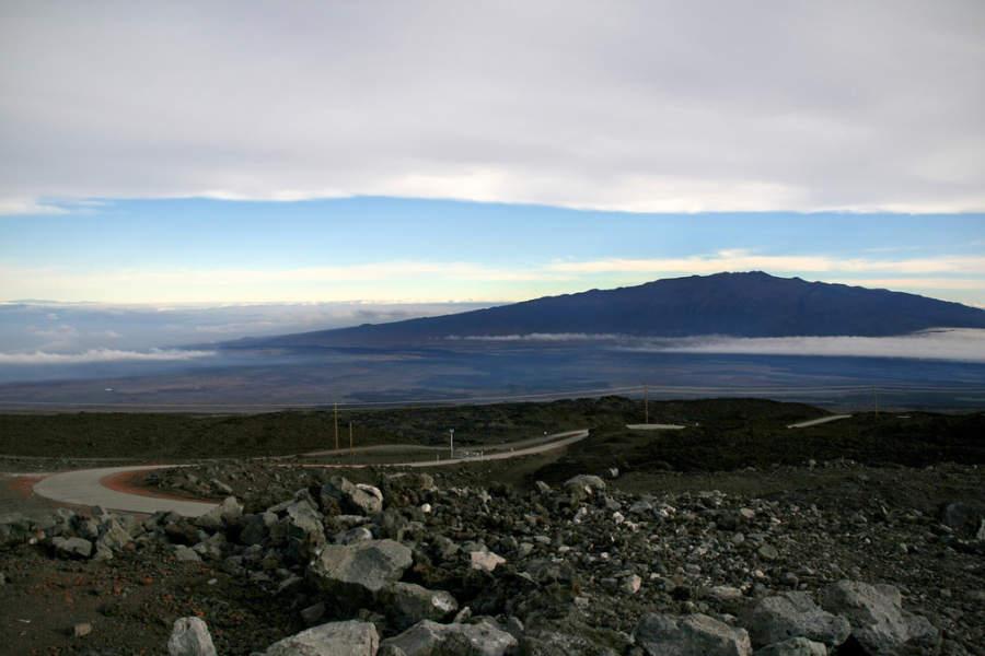 Vista del volcán Mauna Kea