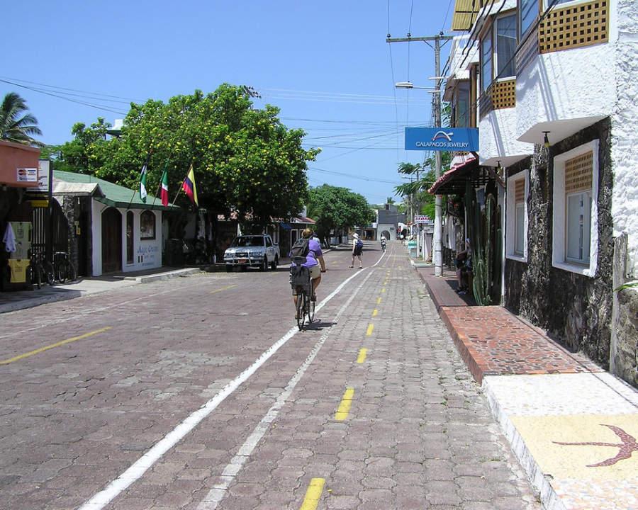 Calles en Puerto Ayora