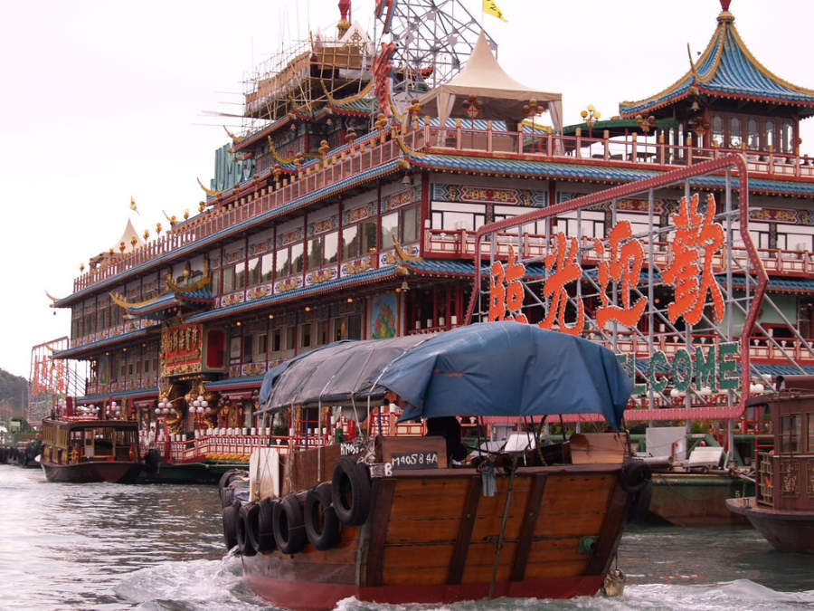 Jumbo Kingdom Floating Restaurant, restaurante flotante
