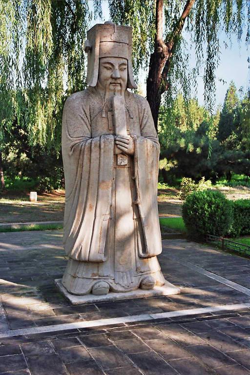 Escultura en el Camino Sagrado en las Tumbas de la dinastía Ming