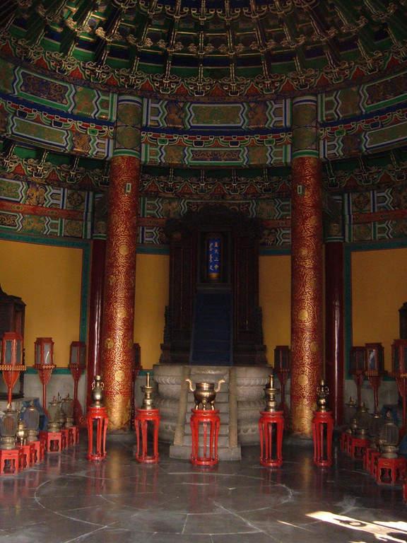 Interior del Templo del Cielo