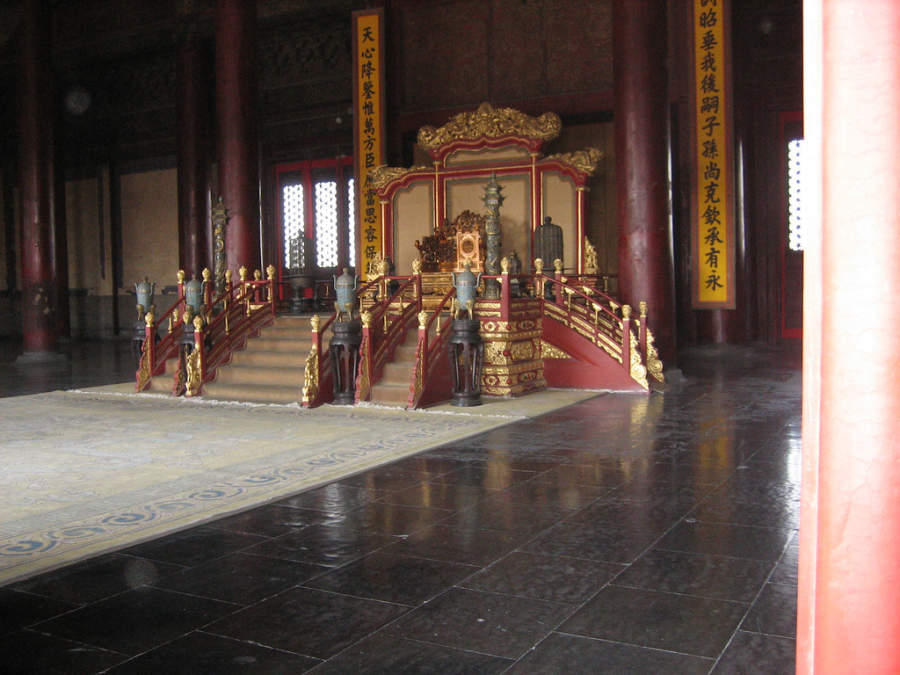 Trono imperial en la Ciudad Prohibida