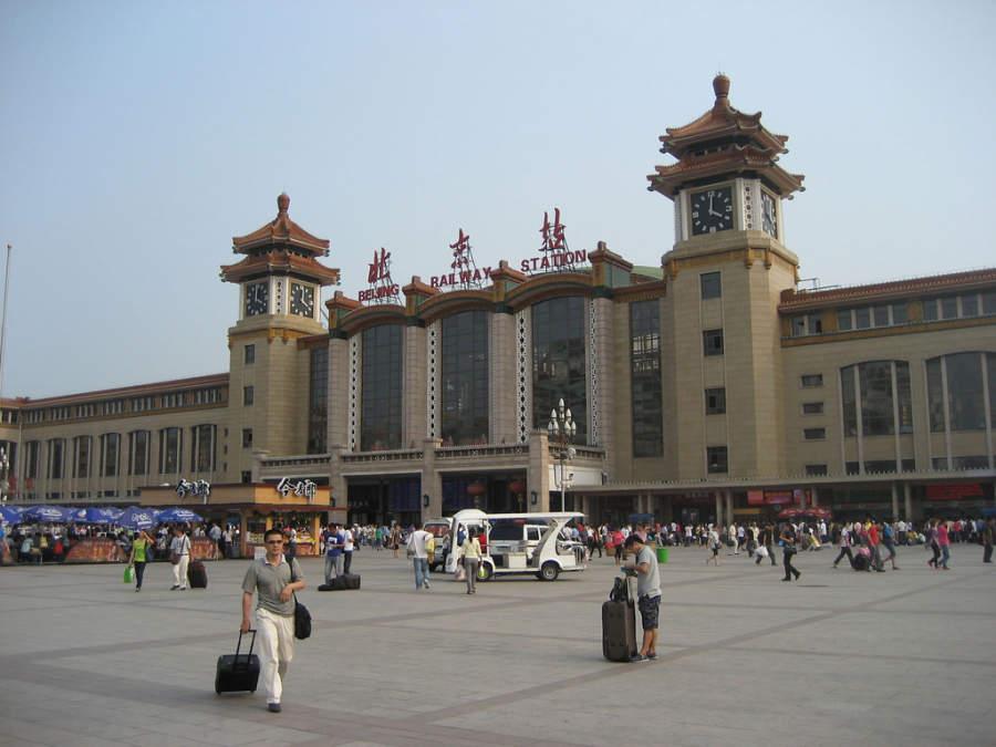 Estación de trenes en Beijing