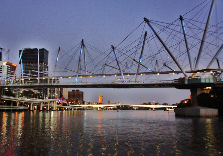 Kurilpa Bridge, puente peatonal en Brisbane