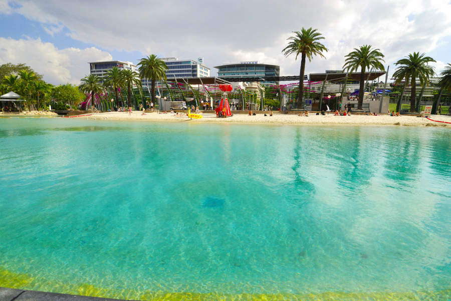 Streets Beach, playa artificial en Brisbane
