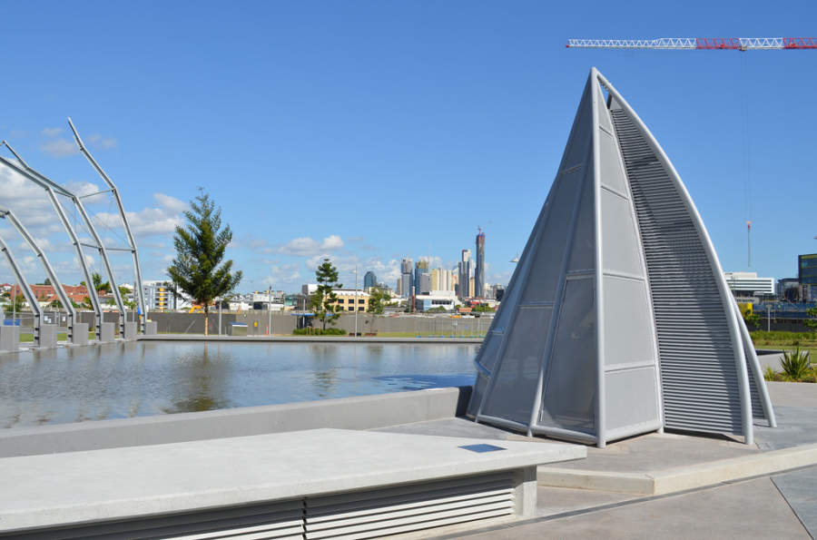 Moderna escultura en Brisbane