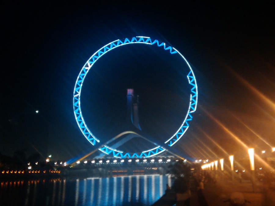 Tianjin Eye, montaña rusa en Tianjín