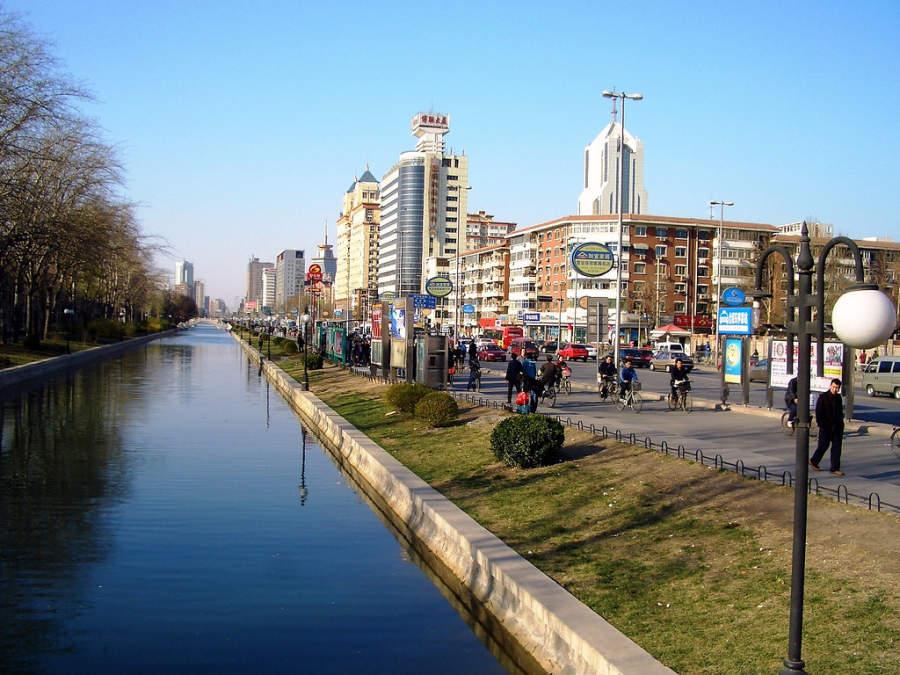 Canal en Tianjín