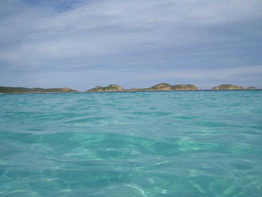 Color turquesa del mar de Esperance