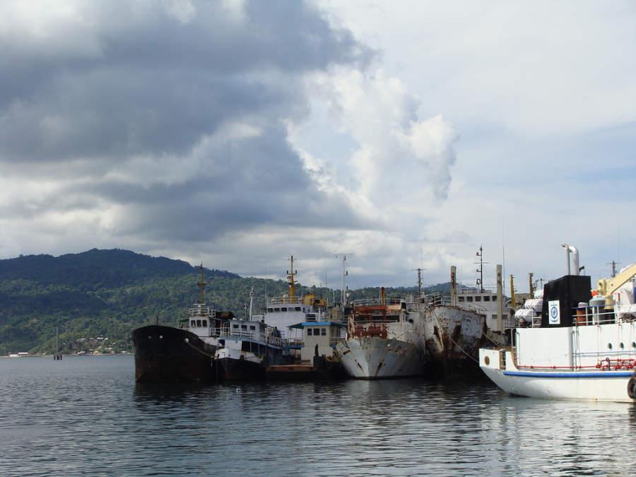 Embarcaciones en el puerto de Port Blair