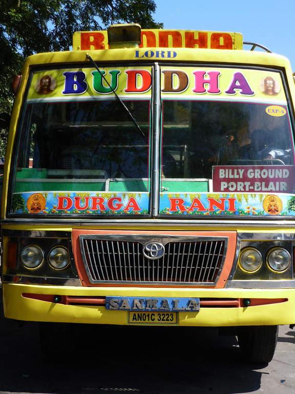 Pintoresco transporte público en Port Blair