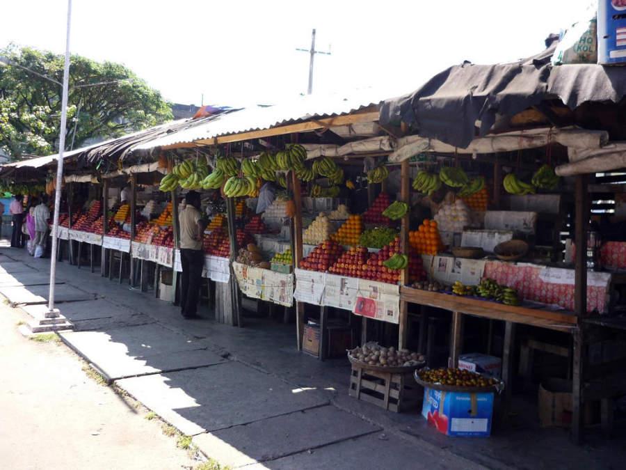 Mercado de frutas en Port Blair