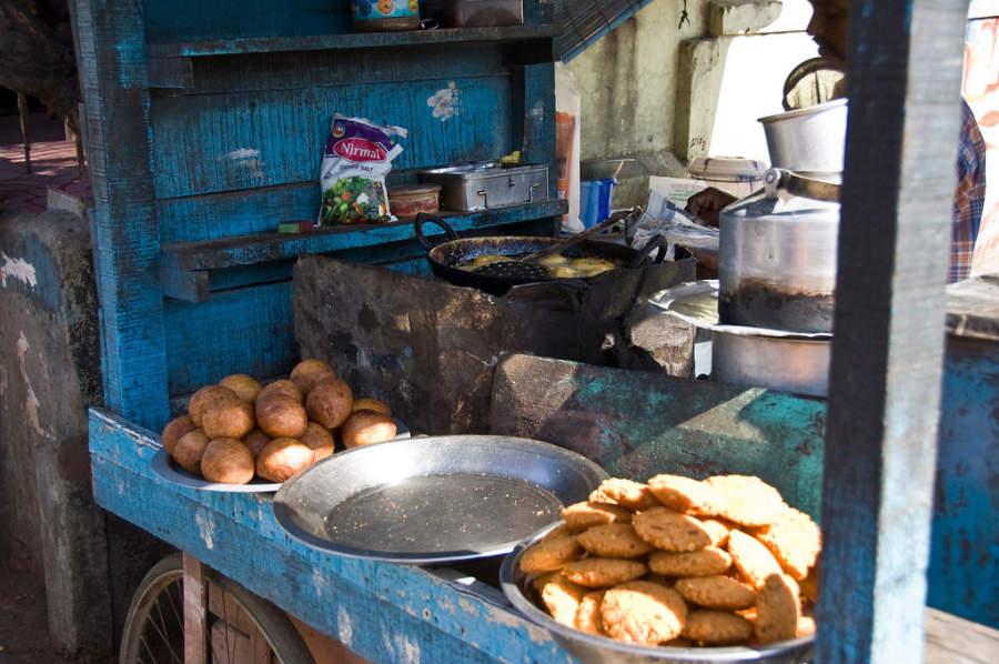 Puesto de comida en Port Blair