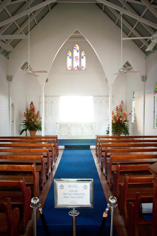 Interior de la capilla St Mary's by the Sea