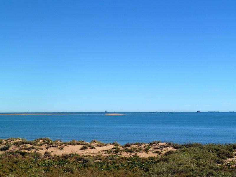 Vista del mar en Port Hedland