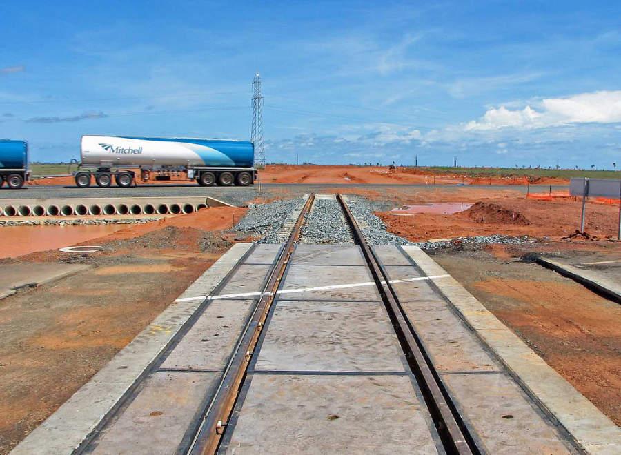 Rieles de ferrocarril en Port Hedland