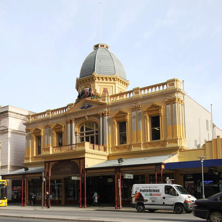 Adelaide Arcade, área comercial en Adelaida