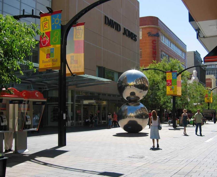 Rundle Mall, zona comercial en Adelaida