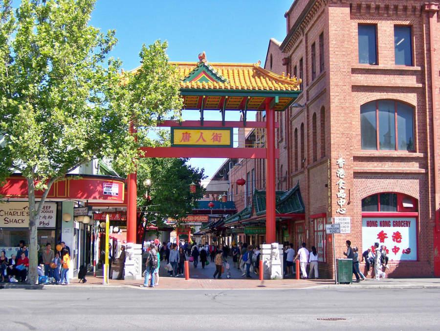 Barrio chino en Grote Street en Adelaida