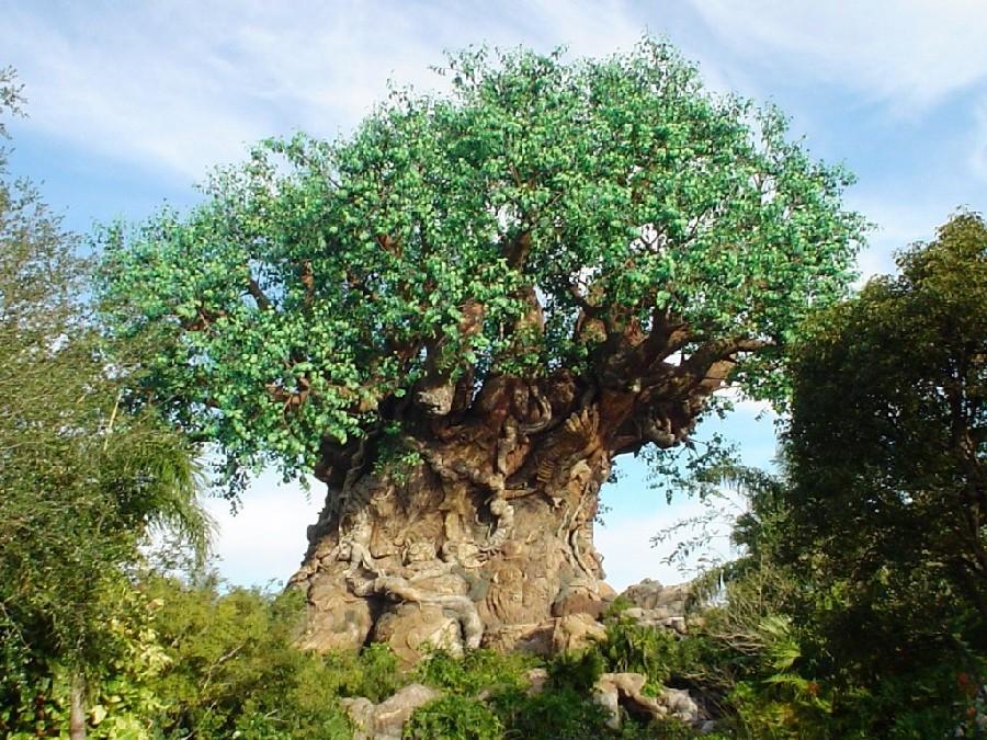 The Tree of Life en Animal Kingdom® tiene más de 300 esculturas talladas en su tronco