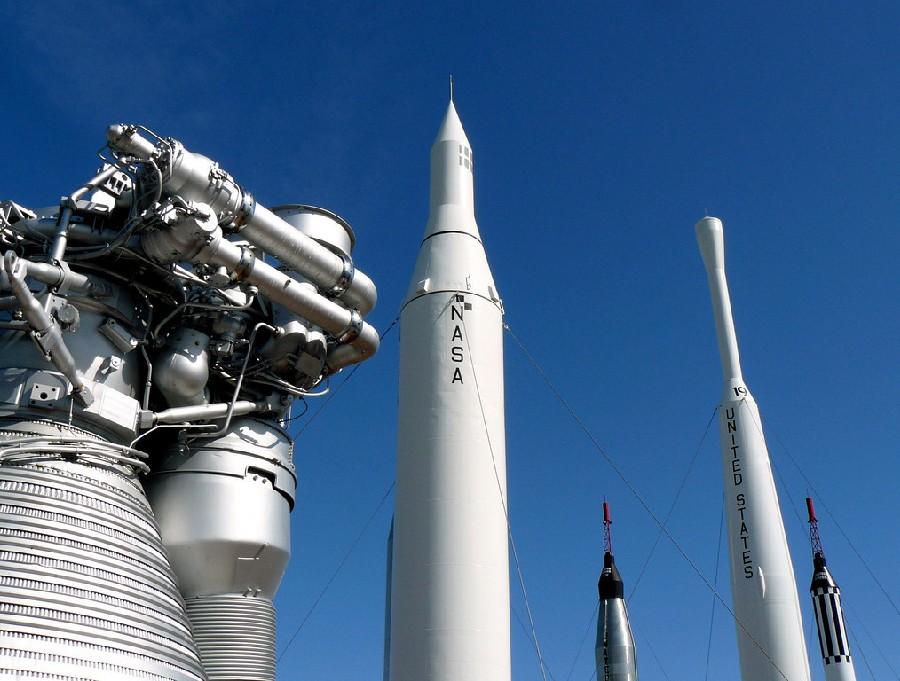 Vista del Centro Espacial Kennedy en Orlando, Florida