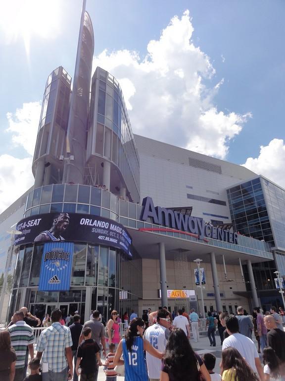 El complejo Amway Center es sede del equipo de la NBA Orlando Magics