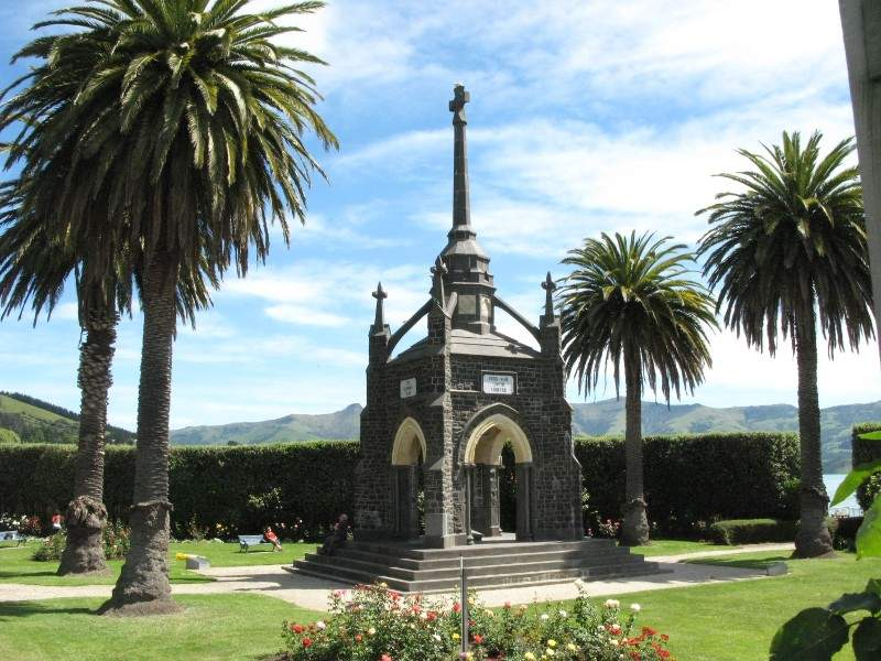 Akaroa War Memorial, monumento para los caídos en la Segunda Guerra Mundial