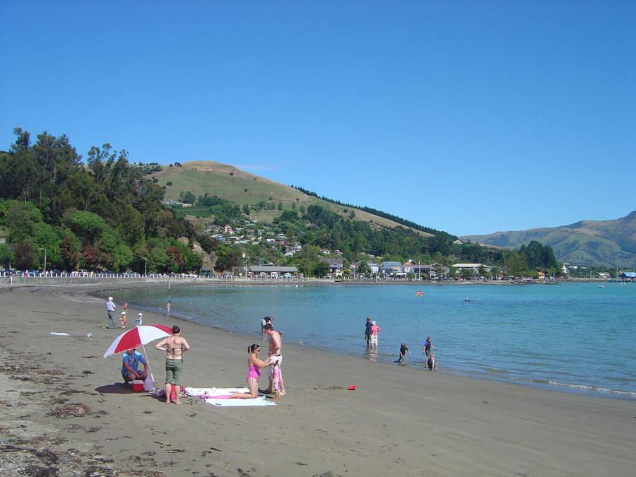 Playa en Akaroa