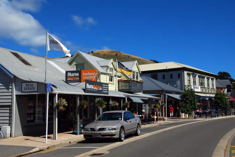 Avenida en Akaroa