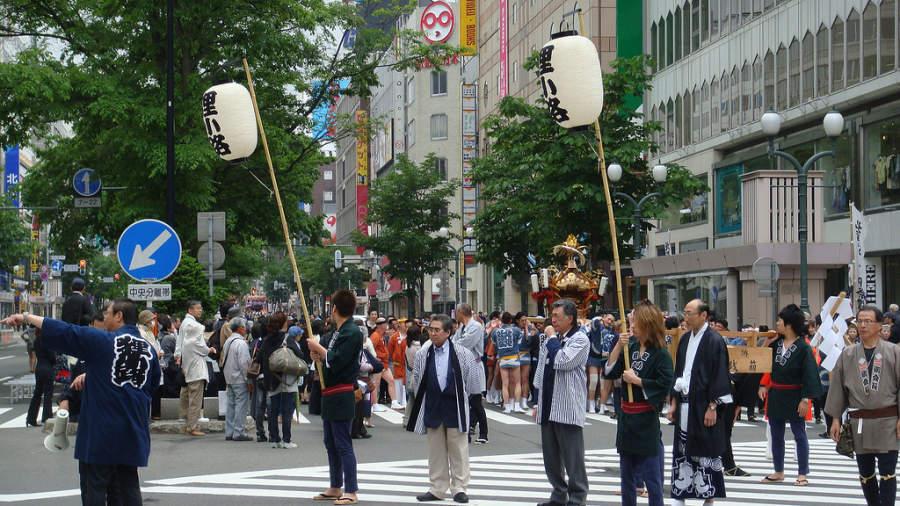 Festival en la ciudad de Sapporo
