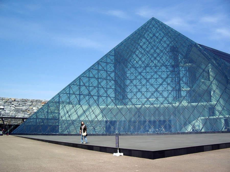 Píramide de cristal en el Parque Moerenuma