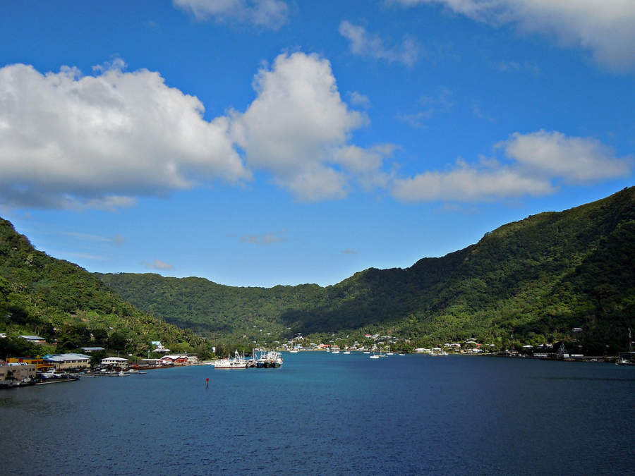 Vista panorámica de la bahía de Pago Pago