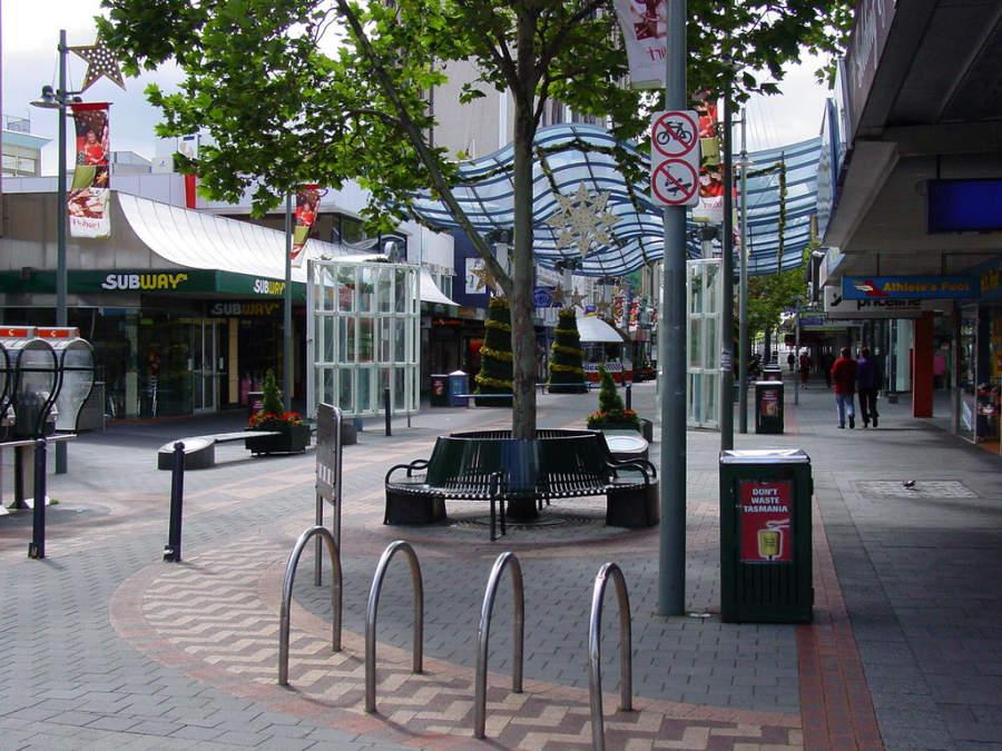 Elizabeth Street Mall, centro comercial en Hobart