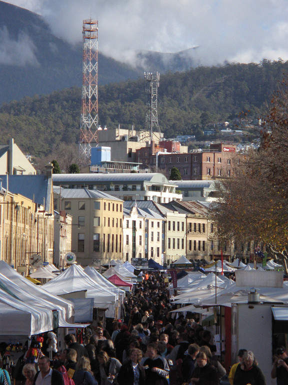 Salamanca Market, famoso mercado en Hobart
