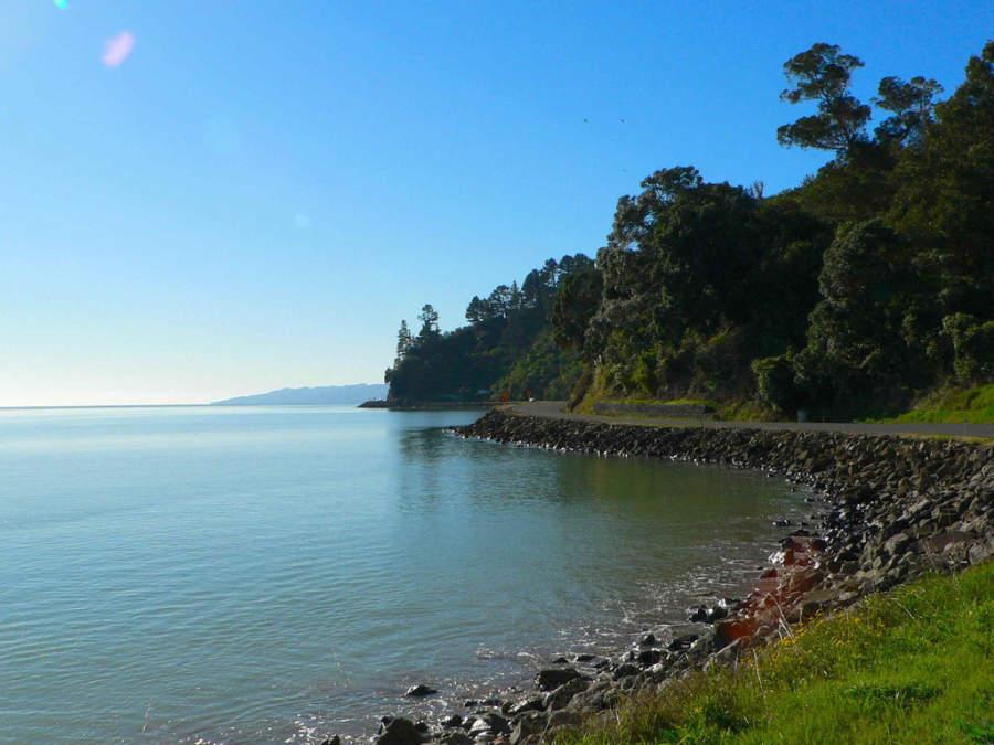 Golfo Hauraki en el norte de Nueva Zelanda