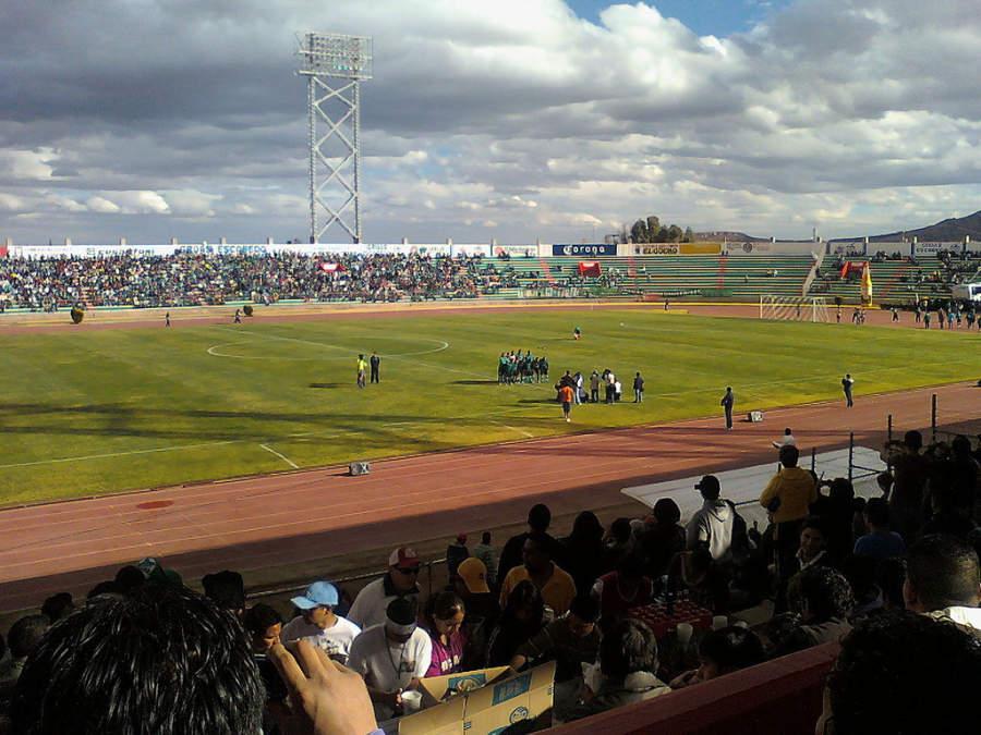 Interior del Estadio Francisco Villa en Zacatecas
