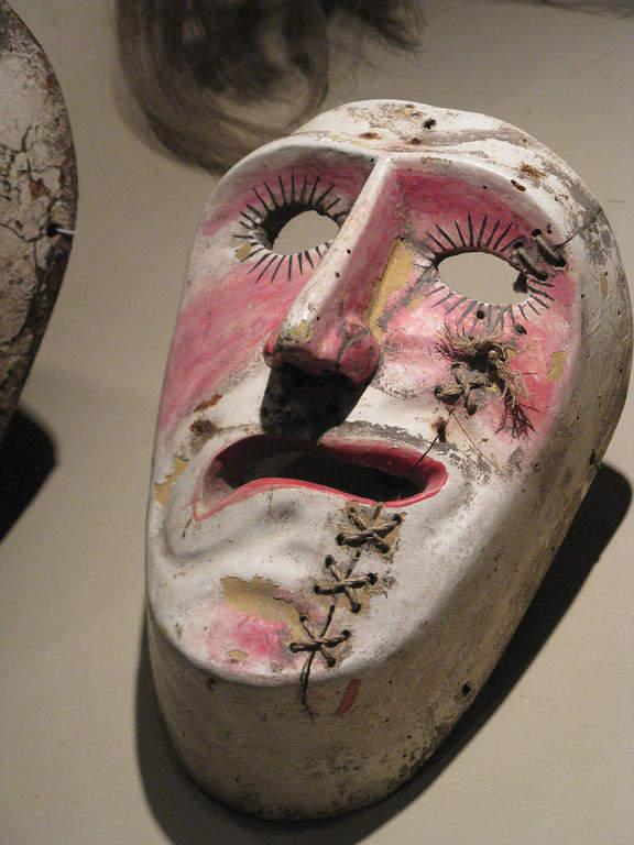 Máscara elaborada por artesanos de Zacatecas