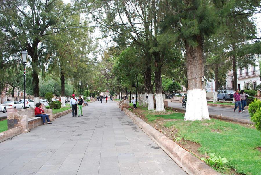 Pasea por la Alameda de Zacatecas